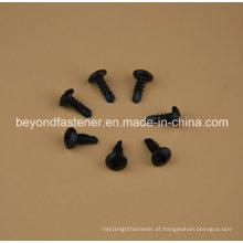 Parafuso da perfuração do auto da cabeça da bandeja 4.2X10 Xylon preto