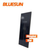 Black 18v flexible solar panel 100w 110w 170w solar system asphalt roofing shingles   solar panel all black mono noframe