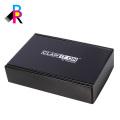 Caja de cartón negra caja corrugada montaje E-flauta marrón