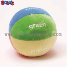 """5.9 """"Weiche bunte Plüsch Baby Ball Spielzeug Baby Pädagogische Rattle Toybosw1055"""