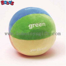 """5.9""""Soft Colorful Plush Baby Ball Toy Baby Educational Rattle Toybosw1055"""