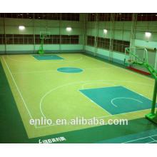 Sol sportif en PVC à usages multiples pour le basketball