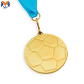 Médaille d'or en forme de football sport