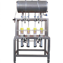100bph~500bph small scale manual glass bottle beer filling capping machine