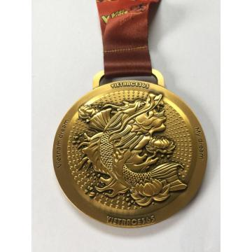 Billig specialdesign Metal Sport Gold Award Medal
