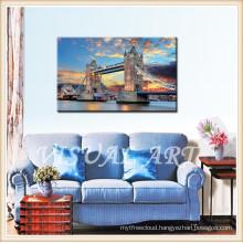 London Bridge Frameless Printed Canvas Art, Ready to hang