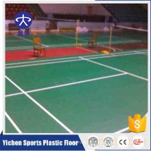 feuille de tapis de sol en plastique amovible badminton