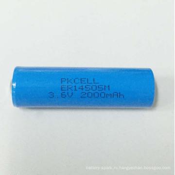 батарея er14505 энергии батареи Размер батареи Li-SOCl2 АА литиевая батарея