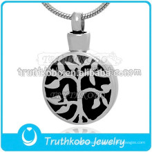 Cremation Jewelry Urn Pendants Stainless Steel Tree of Life Pendant For Memorial