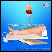 Simulador de treinamento de perfuração de medula óssea e fúnebre ISO, perna de infusão intra-óssea