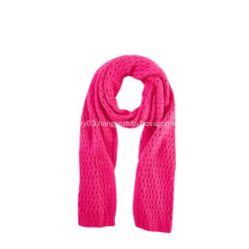 Girl's Knitted Pointelle Warm Scarf