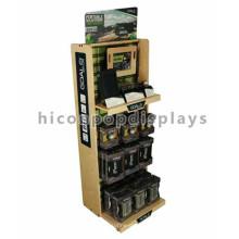 Quality Sports Store Multi-Layer Visual Merchandising Fußball Zubehör Floor Retail Holz Display Stand