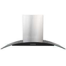90cm Stahl gebogene Glaswandhaube