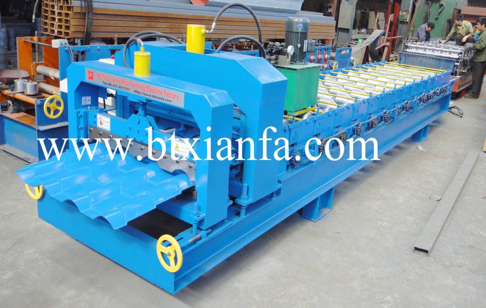 steel tile forming machine 4