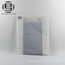 White flat bags for cloth package