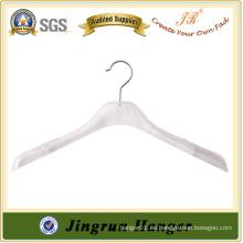 Percha de la ropa de plástico más vendido K-resina percha para la ropa