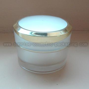 50ml Pyramide zu gestalten weiß Acryl-Kosmetik-Jar