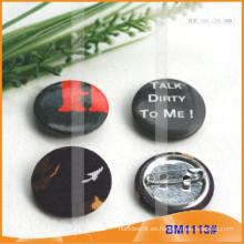 Insignia redonda impresa personalizada del botón de Pinback con el Pin seguro para la promoción BM1113