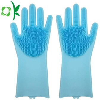 Silicone Cleaning Scrubber Brush Gloves Grosir