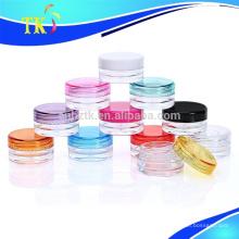 Frascos cosméticos plásticos pequenos de 3g 5g 10g / frasco de creme pequeno amostra do picosegundo
