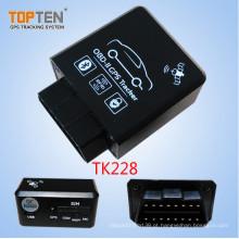 OBD2 Carro Rastreador GPS com Relé Sem Fio Parar Restaurar O Motor, Monitor de Voz Tk228-Ez