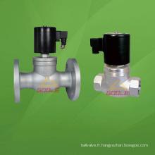 Vanne électromagnétique à bride / filetage à vapeur (GAZQDF)