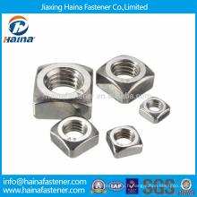 Stock haute qualité DIN557 noix carrées en acier inoxydable