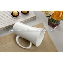 Tipo de Drinkware tipo de cerâmica branca simples caneca de cerveja cerâmica
