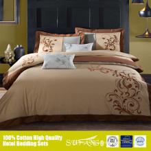 Nueva sábana de diseño de bordado con hilo dorado