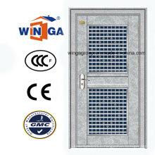 Porte en verre en acier inoxydable en acier inoxydable galvanisé (W-GH-27)