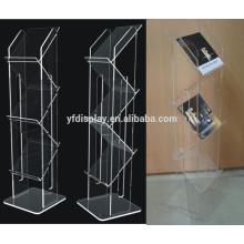 Acryl-Prospekthalter, Kunststoff-Buchhalter, tragbarer Zeitschriftenständer