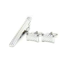 Pin barato do colar dos homens da barra de laço da prata do grampo do preço com o grampo de laço de China