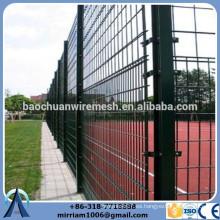 Polvo cubierto deportes doble valla de malla de alambre China proveedor