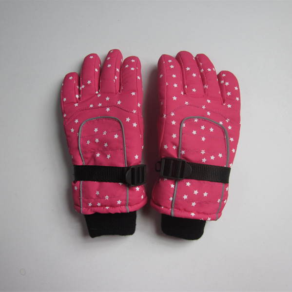 Children Full Printing Nylon Ski Gloves