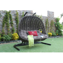 Synthetic Rattan Double Hanging Chair