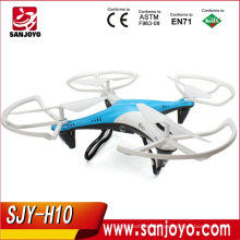 Newest Toy Rc Quadcopters With Camera real-time Support 4CH 2.4GHz 6-Axis Gyro RTF 3D flip stable flight Drone SJY-JJRC-H10
