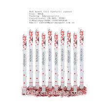 Weißer Rosen-Blumenblatt-Hochzeits-Konfetti-tireur, Partei Poppers geliefert von China