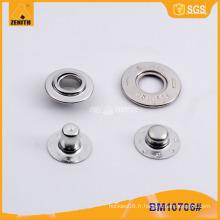 Bouton pression en métal laiton avec conception personnalisée BM10706