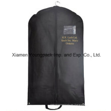 Personalizado impreso negro no tejido PP viaje traje bolsa