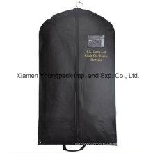 Custom Printed Black Non-Woven PP Travel Suit Bag
