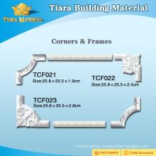 Hardened Polyurethane Plastic 3D Ceiling Moulding With Elegant Shap