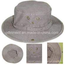 Lavado de pigmento teñido de sarga de algodón ocio pesca sombrero de cuchara (TMBH0001)