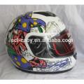 SCL-2013100482 Novos desenhos alemães decalques capacete da motocicleta