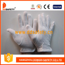 Ddsafety 100% Bleach Cotton Safety Gloves with PVC Dots Dch112