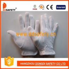 Ddsafety 100% Отбеливателя хлопок защитные перчатки с ПВХ точками Dch112