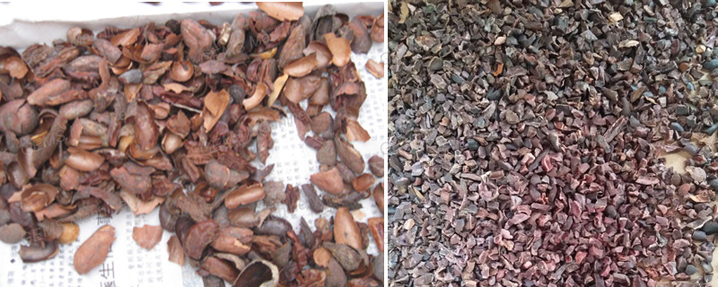 Small Cocoa Bean Shell Removing Dehusking Cracking Machine