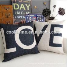 "18 X 18"" Cotton Linen Decorative Couple Throw Pillow Cover Cushion Case"