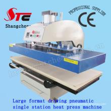 Machine de transfert de chaleur de grand format de T-shirt 60 * 130cm dessin Machine de presse de chaleur automatique de machine pneumatique simple station de transfert de chaleur Stc-Qd08