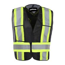 Warnweste mit hoher Sichtbarkeit und Taschen