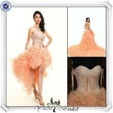 JJ3033 Newest Real Sampl sexy short front long back wedding dress removable skirt